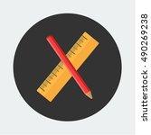 flat vector icon   illustration ... | Shutterstock .eps vector #490269238