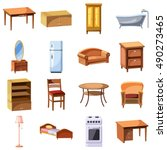 furniture and household... | Shutterstock .eps vector #490273465