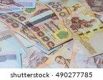money thai baht  | Shutterstock . vector #490277785