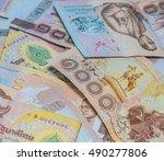 money thai baht    Shutterstock . vector #490277806