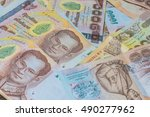 money thai baht  | Shutterstock . vector #490277962