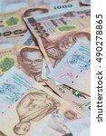 money thai baht  | Shutterstock . vector #490278865