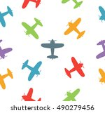 kids seamless pattern with... | Shutterstock .eps vector #490279456