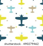 kids seamless pattern with... | Shutterstock .eps vector #490279462