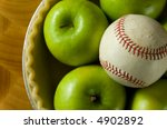 Green Granny Smith Apple In A...