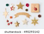 christmas star decorations... | Shutterstock . vector #490293142