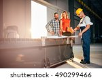 architect team checking... | Shutterstock . vector #490299466