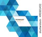 geometric modern template for... | Shutterstock .eps vector #490301452