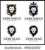 lion shield logo design...   Shutterstock .eps vector #490310302