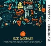 music festival vector... | Shutterstock .eps vector #490320286