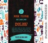 music concert vector poster... | Shutterstock .eps vector #490320316