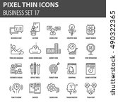 set of thin icons  business... | Shutterstock .eps vector #490322365