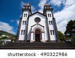 tower of st. sebastian church ... | Shutterstock . vector #490322986