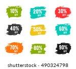 christmas sale percents  new... | Shutterstock . vector #490324798
