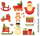 merry christmas and happy new... | Shutterstock .eps vector #490329592