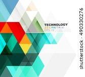 geometric modern template for... | Shutterstock .eps vector #490330276