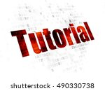 studying concept  pixelated red ... | Shutterstock . vector #490330738