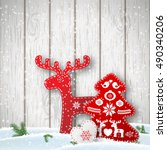 christmas background  small... | Shutterstock .eps vector #490340206
