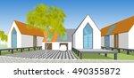 park   landscape  abstract... | Shutterstock . vector #490355872