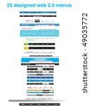 25 designed web 2.0 menus | Shutterstock .eps vector #49035772