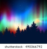 winter landscape background... | Shutterstock .eps vector #490366792