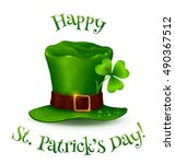 realistic vector leprechaun's... | Shutterstock .eps vector #490367512
