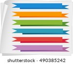 label templates with colorful... | Shutterstock .eps vector #490385242