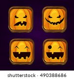 set of halloween game icons...
