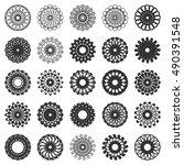 vector round geometric elements ... | Shutterstock .eps vector #490391548