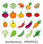 vegetables | Shutterstock .eps vector #49039312