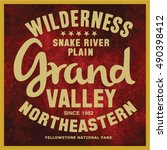 vintage vector of wilderness... | Shutterstock .eps vector #490398412