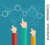 hands of business people making ...   Shutterstock .eps vector #490400572