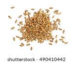Malted barley on white...