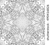 tracery seamless calming... | Shutterstock .eps vector #490416826
