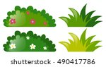 four bushes with and without... | Shutterstock .eps vector #490417786