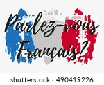 conceptual lettering with paint ... | Shutterstock .eps vector #490419226