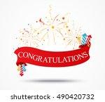 congratulations design with...   Shutterstock .eps vector #490420732