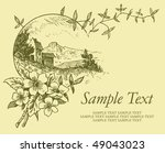 antique background with... | Shutterstock .eps vector #49043023