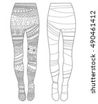 tights  coloring book page for... | Shutterstock .eps vector #490461412