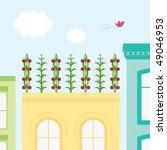 rooftop garden | Shutterstock .eps vector #49046953