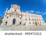 syracusy  sicily  italy   june... | Shutterstock . vector #490471312