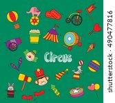 vector illustration of doodle... | Shutterstock .eps vector #490477816
