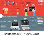 business technology... | Shutterstock .eps vector #490482805