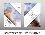 brochure layout template flyer... | Shutterstock .eps vector #490483876