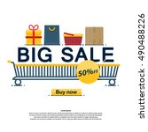 big sale  icons  buy now ... | Shutterstock .eps vector #490488226