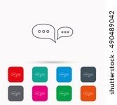 chat icon. comment message sign. | Shutterstock .eps vector #490489042