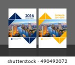 cover design for annual report... | Shutterstock .eps vector #490492072
