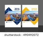 cover design for annual report... | Shutterstock .eps vector #490492072