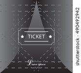 ticket icon. vector...   Shutterstock .eps vector #490492942