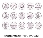 wood properties icons. vector... | Shutterstock .eps vector #490493932